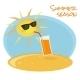 Summer Sun Drinking Orange Cocktail - GraphicRiver Item for Sale