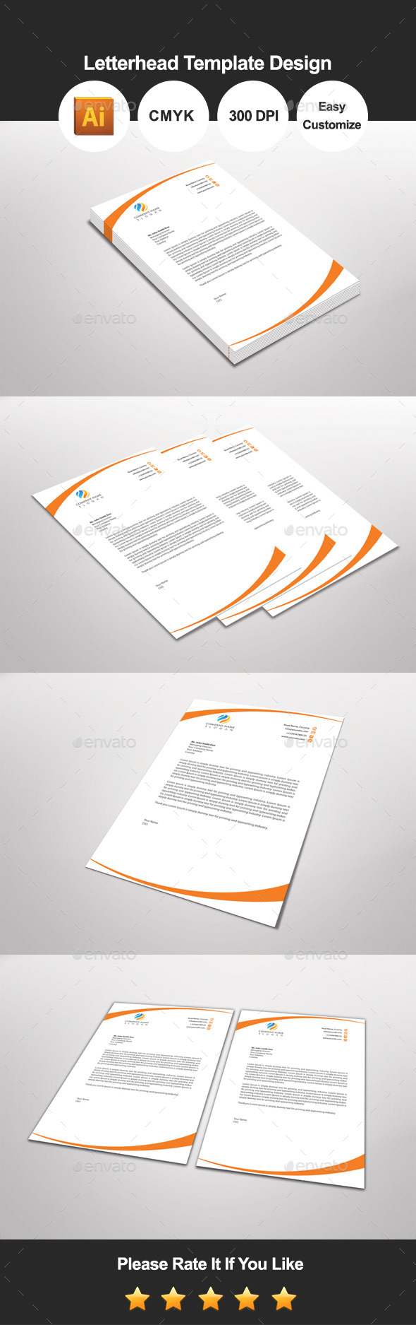 GraphicRiver Orangesign Letterhead Template Design 11559711