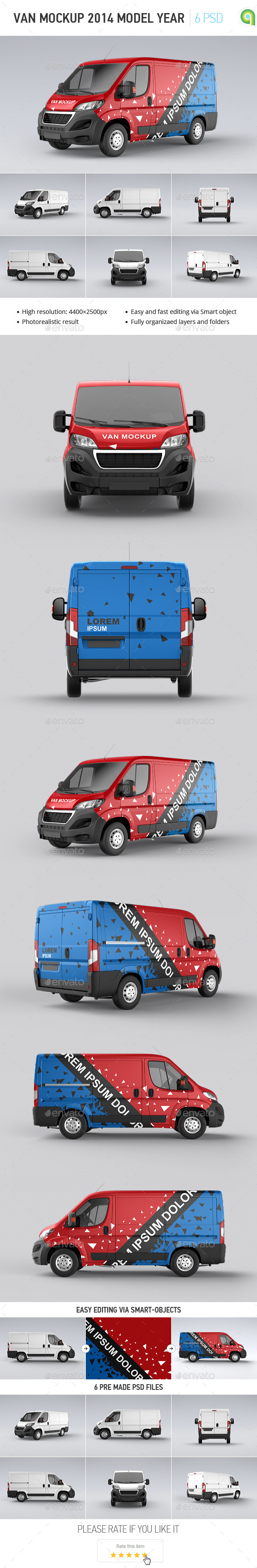 GraphicRiver Van Mock-up 2014 Model Year 11559958
