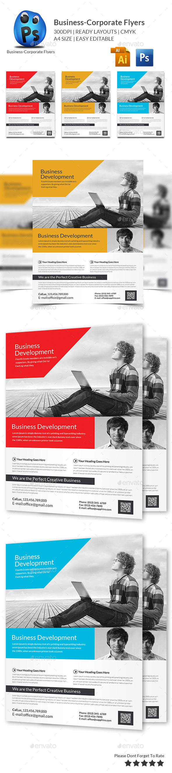 GraphicRiver Corporate Business Flyer Template 11560083