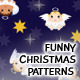 Funny Christmas Seamless Patterns - GraphicRiver Item for Sale