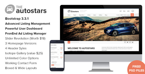 ThemeForest Auto Stars Car Dealership & Listings WP Theme 11560490