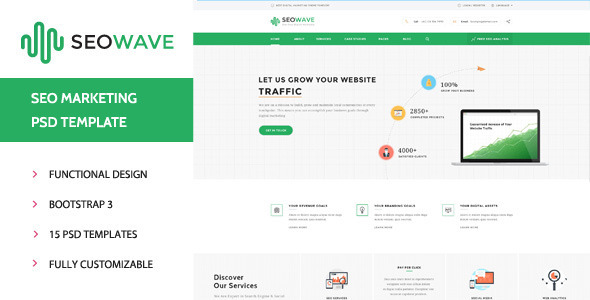 ThemeForest Seo Wave Seo Company PSD Template 11560505