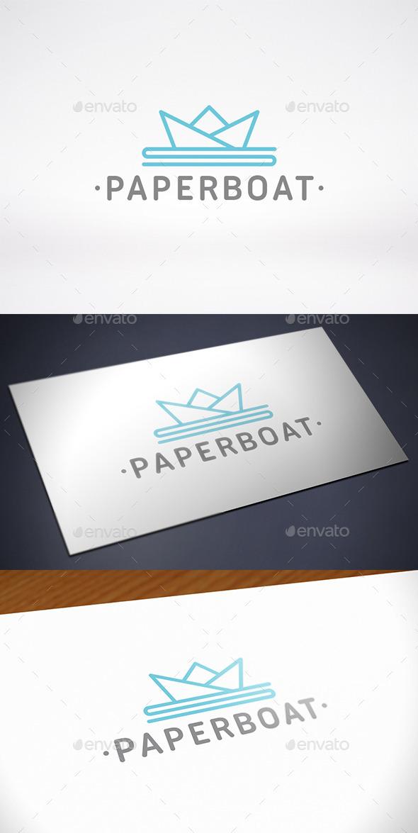 GraphicRiver Paper Boat Logo Template 11560625