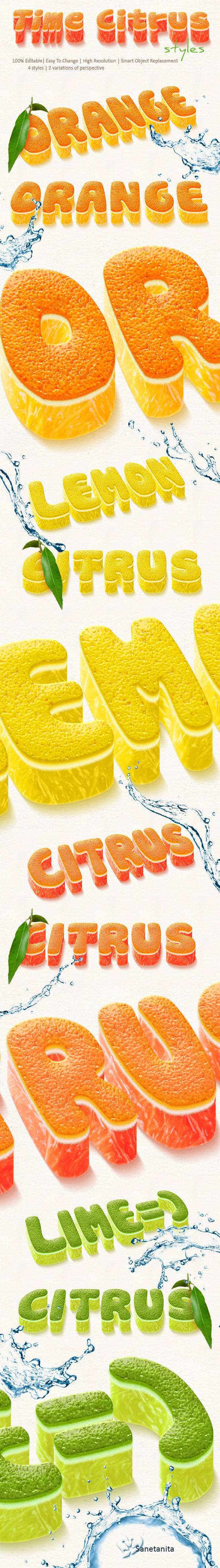 GraphicRiver Time Citrus 3D Styles 11560641