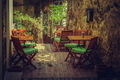 Homey outdoor cafe terrace - PhotoDune Item for Sale