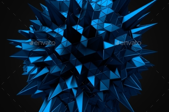 GraphicRiver Abstract 3D Rendering Of Blue Chaotic Structure 11560996