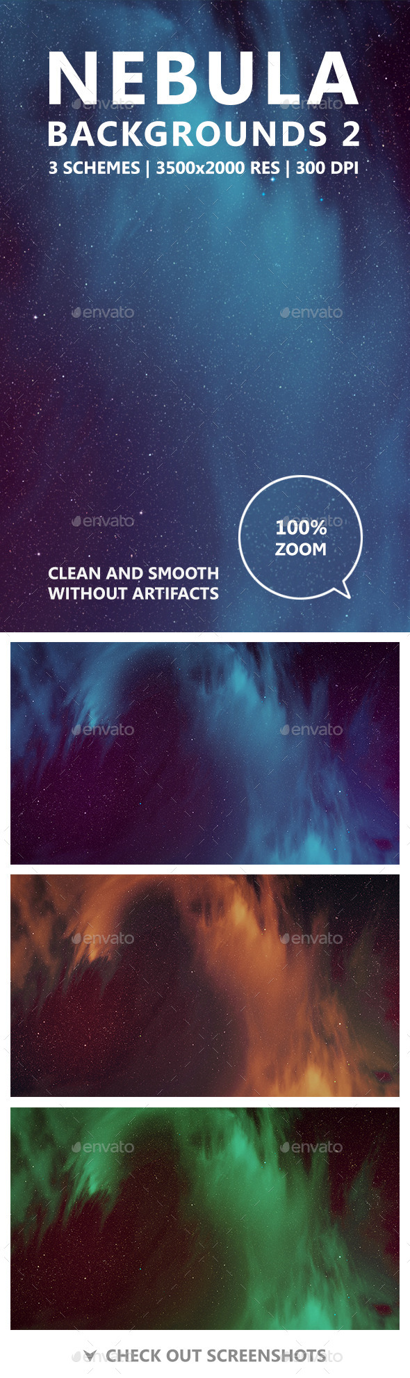 GraphicRiver Nebula Backgrounds 2 11561042