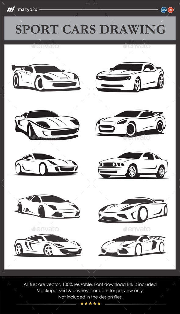 GraphicRiver Sport Cars Drawing 11561088