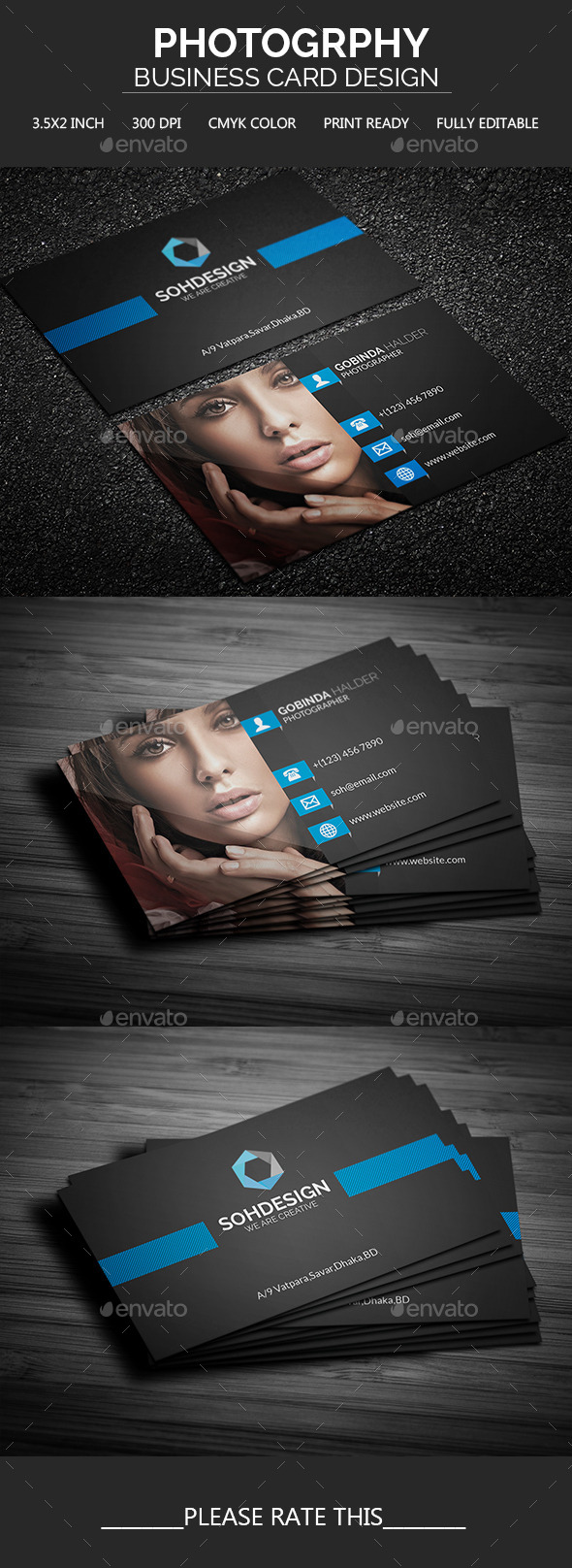 GraphicRiver Photography Business Card Template 11561294