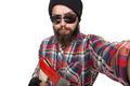 young bearded lumberjack makes selfie - PhotoDune Item for Sale