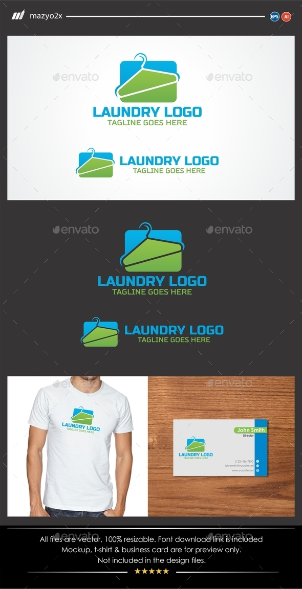 GraphicRiver Laundry Service Logo 11561298