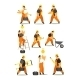 Set Of Workers In Working Clothes - GraphicRiver Item for Sale