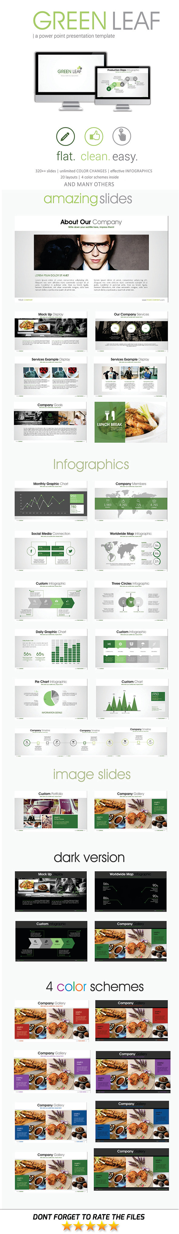 GraphicRiver Green Leaf PowerPoint Template 11561434