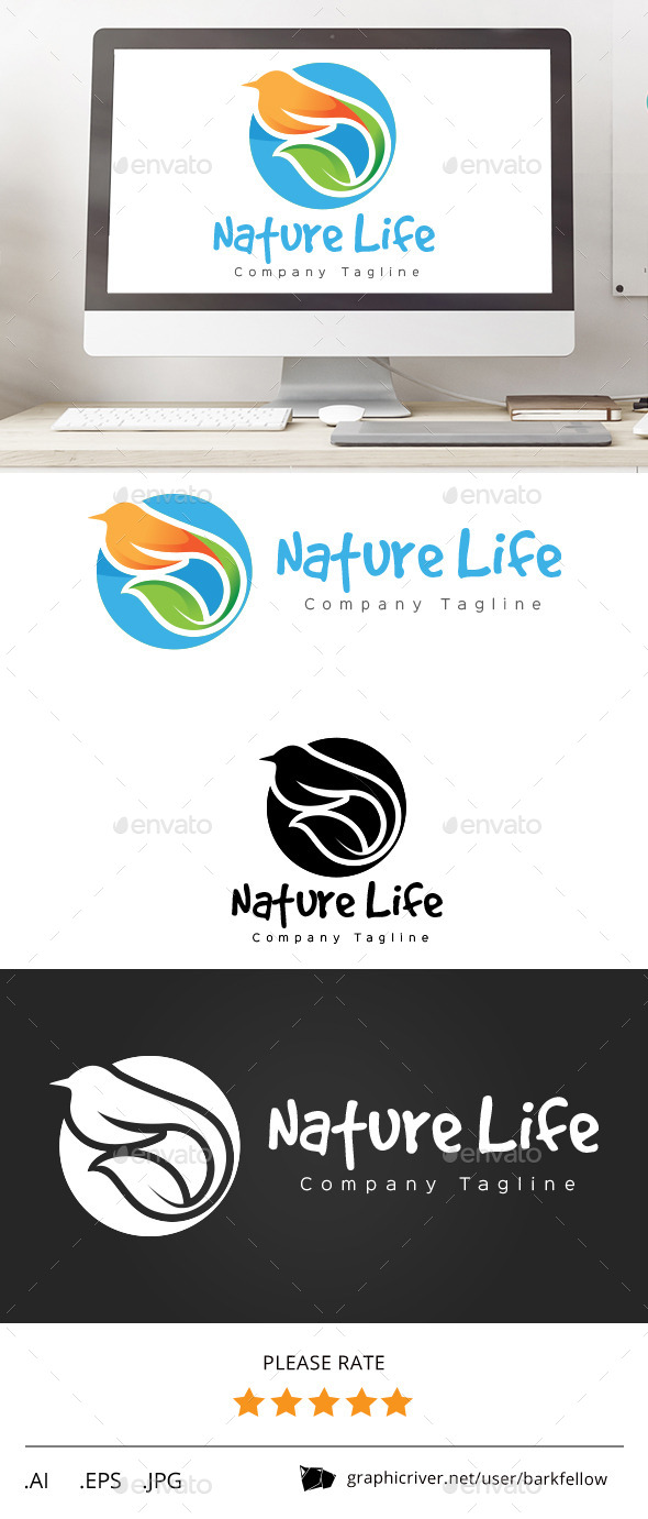 GraphicRiver Nature Bird Life Logo 11561444