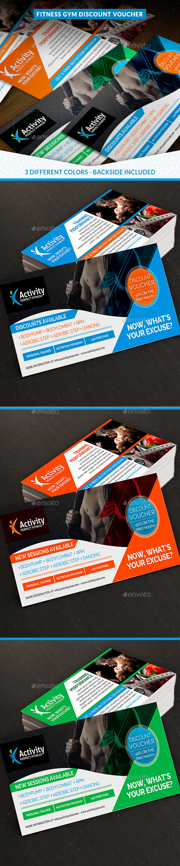GraphicRiver Fitness and Gym Discount Voucher 11561447
