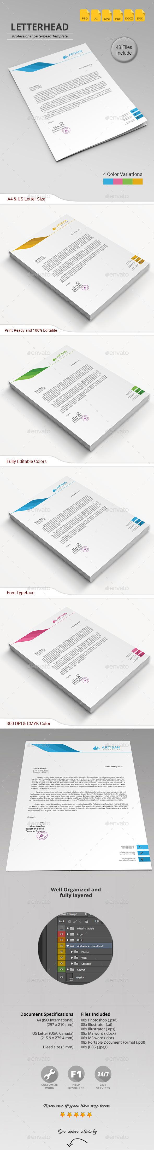 GraphicRiver Letterhead 11561574
