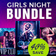 Sexy Girls Night Out Flyer Template PSD Bundle - GraphicRiver Item for Sale