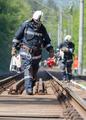 Tanker train crash firefighters - PhotoDune Item for Sale