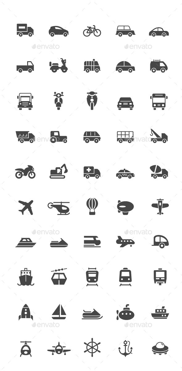GraphicRiver 50 Transport Icon 11561608