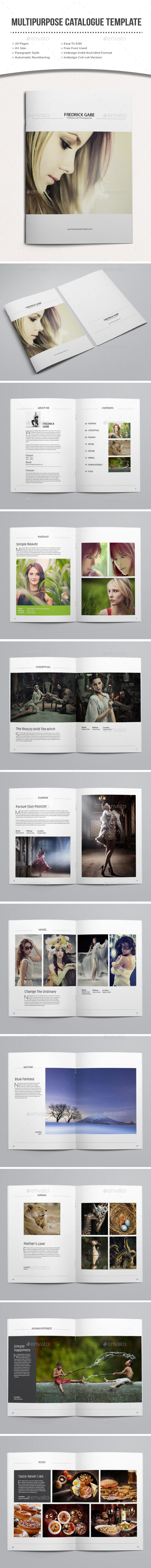 GraphicRiver Minimal Photography Portfolio Brochure 11561638