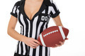 Female Referee Holding American Football - PhotoDune Item for Sale