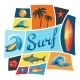 Background With Surfing Design Elements - GraphicRiver Item for Sale