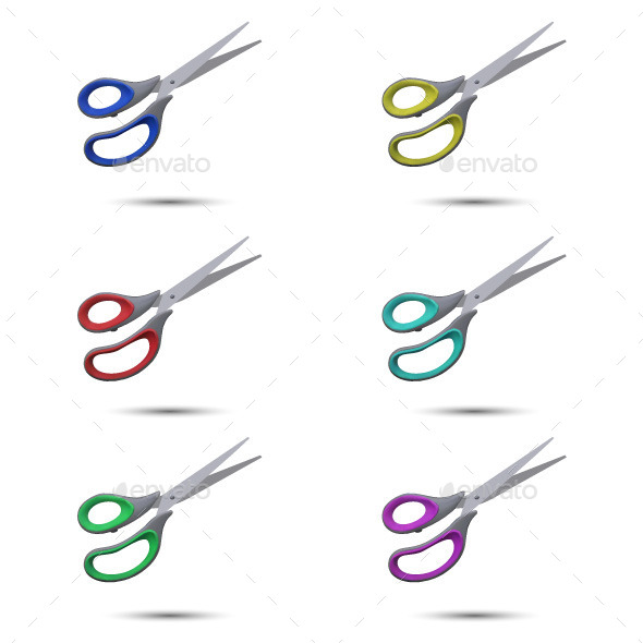 GraphicRiver Colored Scissors 11561909