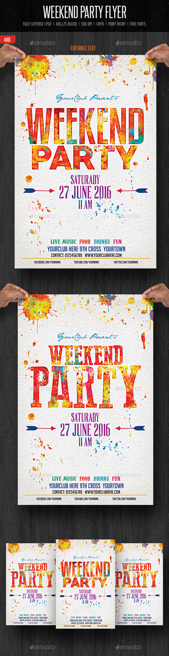 GraphicRiver Weekend Party Flyer 11561925