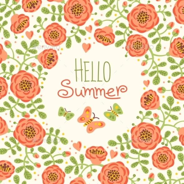 GraphicRiver Season Card Hello Summer 11562134