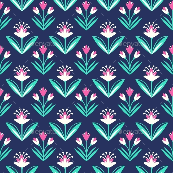 GraphicRiver Seamless Pattern With Decorative Floral Ornament 11562147