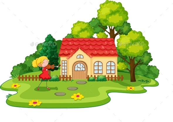 GraphicRiver Girl and House 11562156