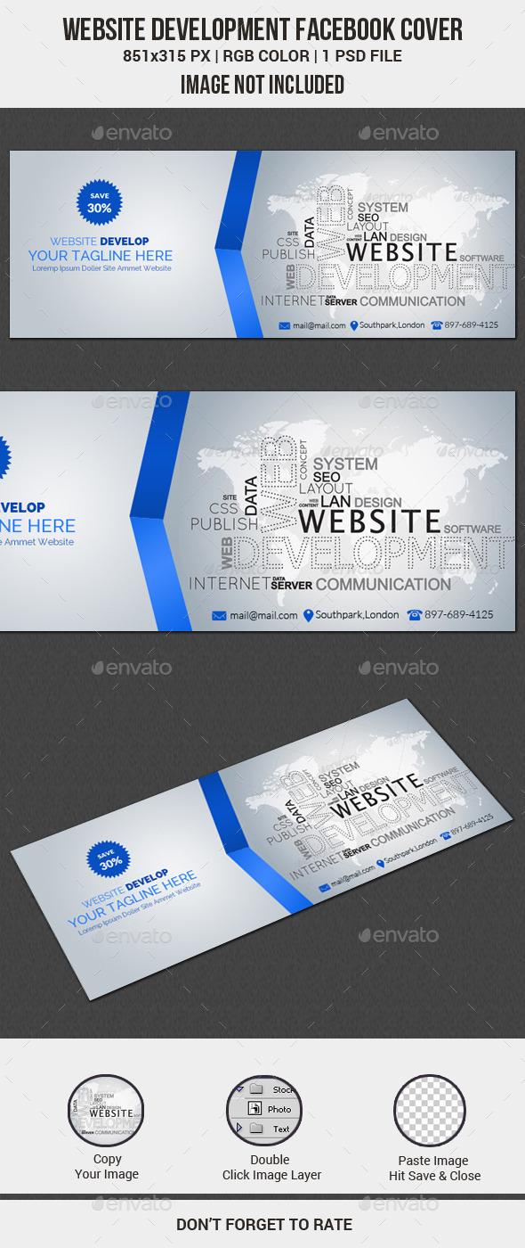 GraphicRiver Web Development Facebook Cover 11562214