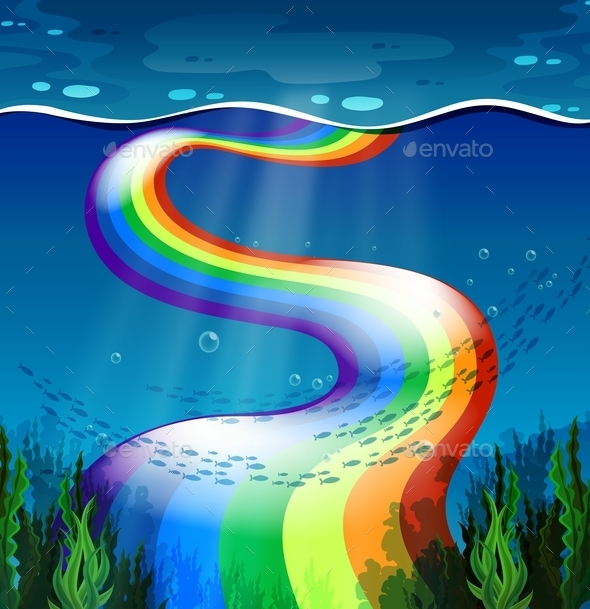 GraphicRiver Rainbow and Ocean 11562261