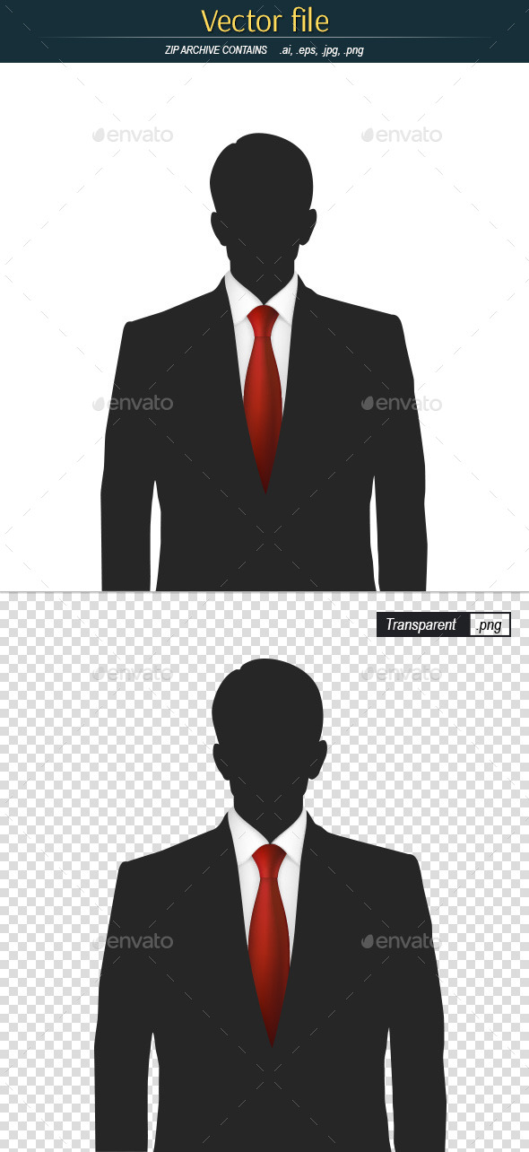 GraphicRiver Silhouette of a Man with Red Tie 11562338