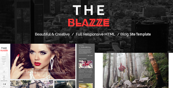 The Blazze – Blog and Magazine HTML Site Template (Fashion) Download