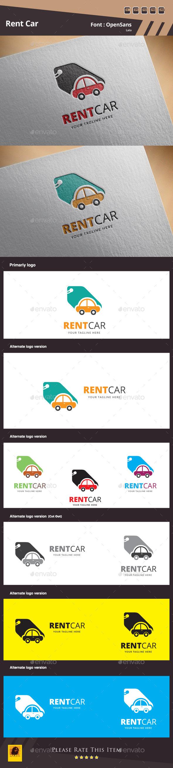 Rent Car Logo Template
