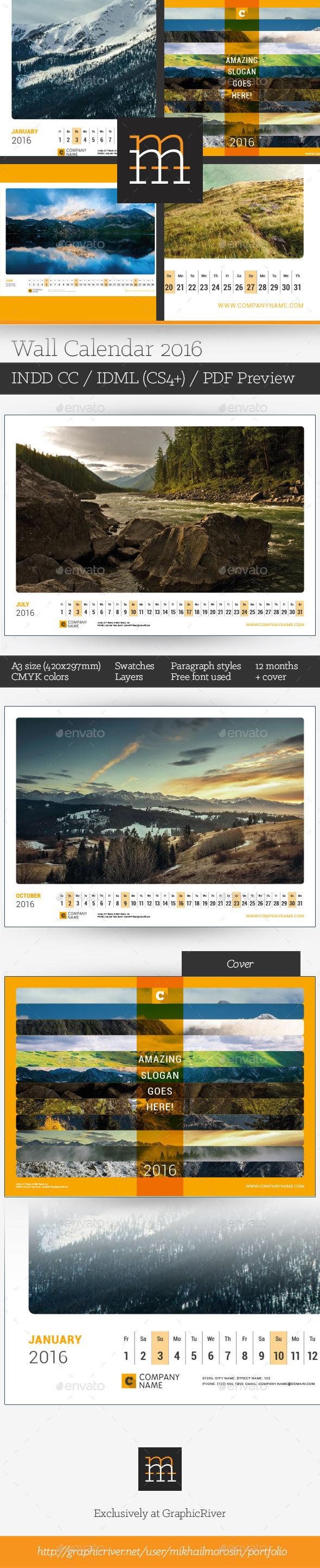 GraphicRiver Wall Calendar 2016 11562681
