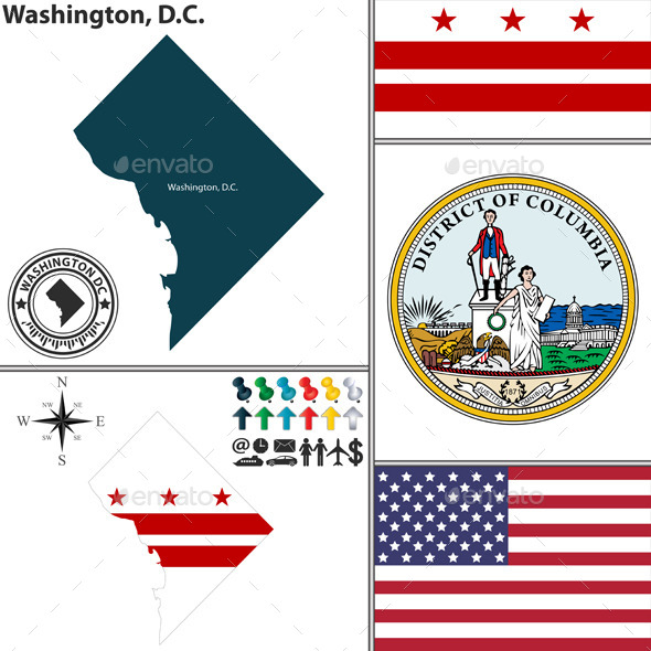 GraphicRiver Map of Washington D.C USA 11562744
