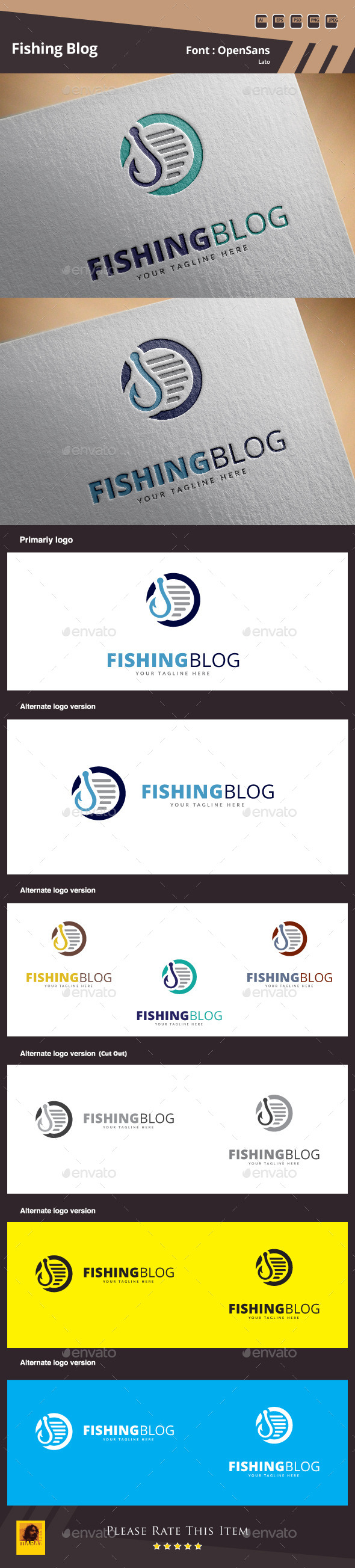 GraphicRiver Fishing Blog Logo Template 11562886