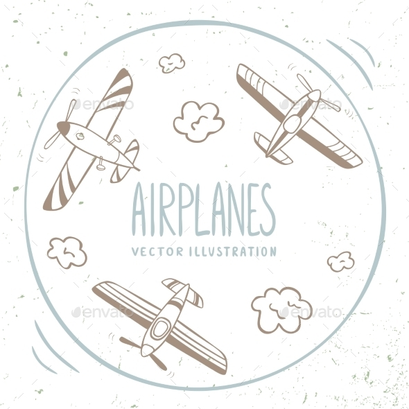 GraphicRiver Airplanes Around 11562917