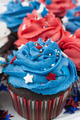 Patriotic Red, White, and Blue Frosted Cupcakes - PhotoDune Item for Sale