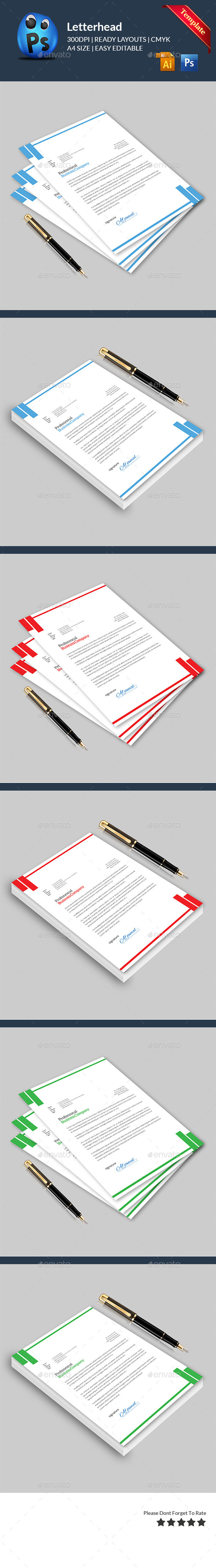 GraphicRiver Letterhead Print Templates 11562967