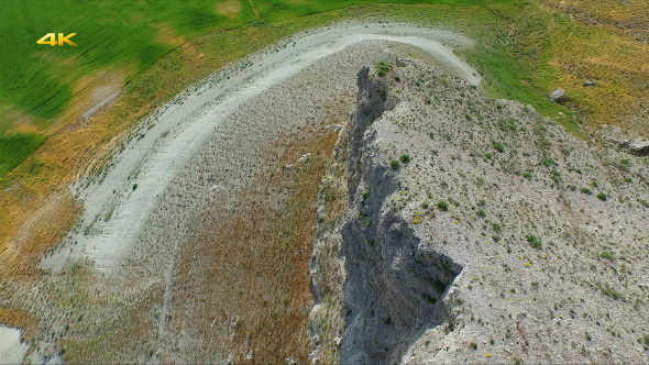 Aerial Flying Eroded Mountains and Slopes 2