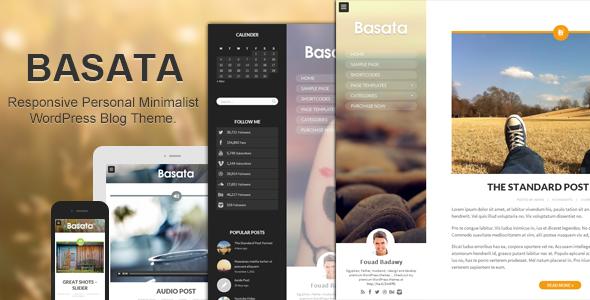 Basata - Retina Responsive WordPress Blog Theme - Personal Blog / Magazine