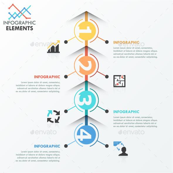 GraphicRiver Minimal Infographics Process Template 11563325