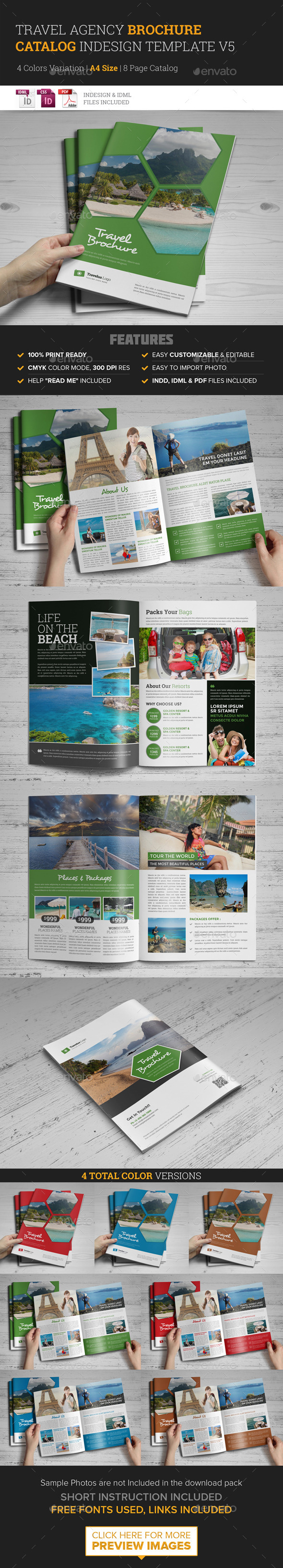 GraphicRiver Travel Agency Brochure Catalog InDesign Template 11563427