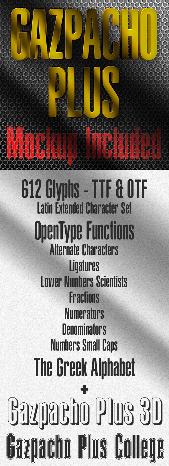 GraphicRiver Gazpacho Plus Fonts 11563452