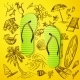 Thongs And Hand Draw Tourist Icon - GraphicRiver Item for Sale