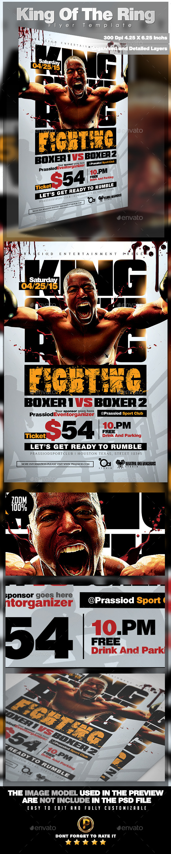 GraphicRiver King Of The Ring Flyer Template 11563548